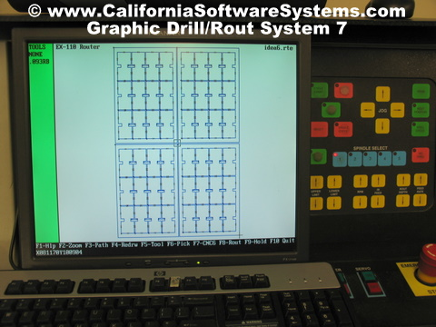Drill and Rout Graphics California Software Systems